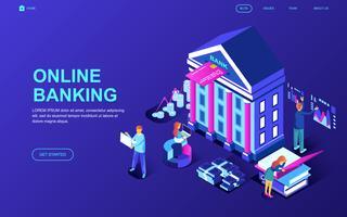 Bannière Web sur les services bancaires en ligne vecteur