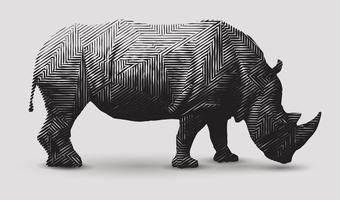 Illustration de rhinocéros. vecteur