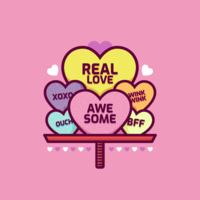 Vecteur de coeurs bonbons Valentine