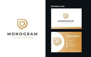Lettre d monogramme concept logo template vector illustration