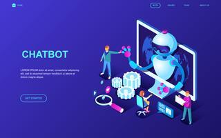 bannière web chatbot vecteur