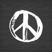 symbole de paix, hippie grunge dessiné à la main ou signe pacifiste, illustration vectorielle isolée sur fond blanc vecteur