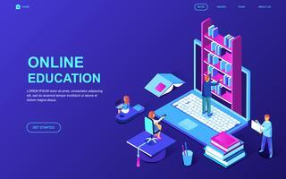 Bannière Web sur l'éducation en ligne vecteur