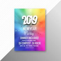 Modèle de célébration de la fête fête 2019 nouvel an