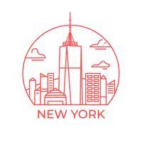 tour de la liberté new york vecteur