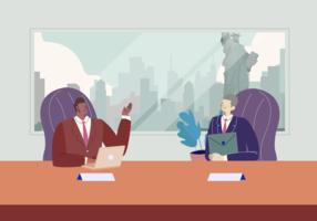 Réunion de commerce international Vector Illustration plate
