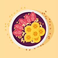 bol d'açai de couleur vecteur