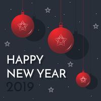 Fond de nouvel an élégant vecteur