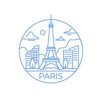 Illustration de la tour Eiffel vecteur