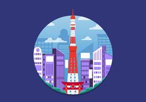 Ville de Tokyo vecteur
