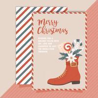 Carte de Noël de vecteur