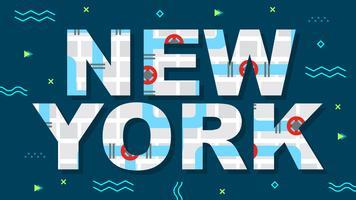 Vecteurs de New York mignons