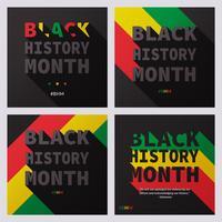 Mois de l'histoire noire Modèles de publications de médias sociaux vecteur