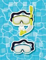 icônes de lunettes de plongée vecteur