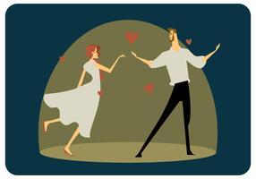 Un couple amoureux Vector