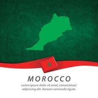 drapeau maroc avec carte vecteur