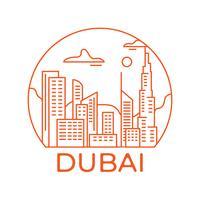 Paysage urbain de Dubaï vecteur