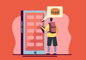 Commande de nourriture en ligne vecteur