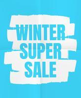 Super vente d'hiver vecteur