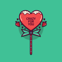Valentine Candy Hearts Vecteur
