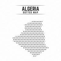 carte en pointillés de l'algérie vecteur