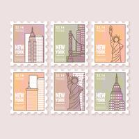 Timbres de New York vecteur