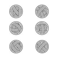 illustration de conception d'icône de vecteur de boule de fil