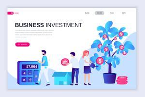 Bannière Web sur les investissements commerciaux