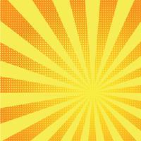 Rétro fond jaune comique dégradé demi-teinte pop art style rétro vecteur