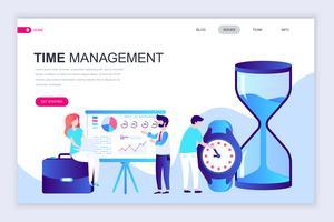 Bannière Web sur la gestion du temps vecteur