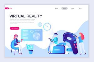 Bannière Web de réalité augmentée virtuelle vecteur