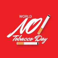illustration vectorielle d & # 39; un fond pour la journée mondiale sans tabac vecteur