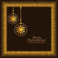 Joyeux Noël fond de paillettes d'or