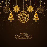 Résumé décoratif élégant joyeux Noël vecteur