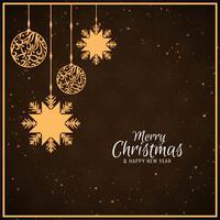Design de fond abstrait joyeux Noël célébration vecteur