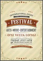Affiche du festival vintage vecteur