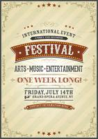 Affiche du festival vintage