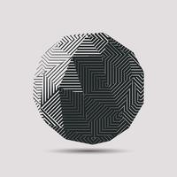 Boule polygonale abstraite 3D vecteur