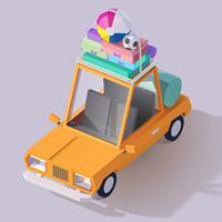 Icône de voiture d'été vecteur