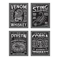 collection de graphiques vectoriels étiquette whisky vintage vecteur