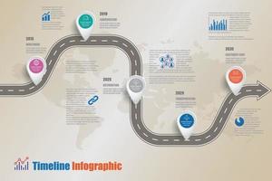 business roadmap chronologie infographie icônes conçues pour résumé fond modèle élément diagramme moderne processus pages web technologie marketing numérique données présentation graphique illustration vectorielle vecteur
