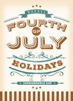 Millésime juillet vacances vecteur
