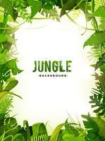 Fond de feuilles tropicales de la jungle vecteur