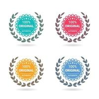 100 illustrations originales de badge de logo s'habituent à une garantie de garantie certifiée, etc. vecteur