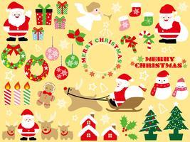 Ensemble d'éléments graphiques de Noël assortis. vecteur