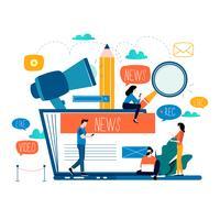 Blogging, éducation, écriture créative vecteur