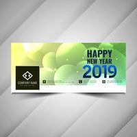 Bonne année 2019 bannière moderne de médias sociaux vecteur