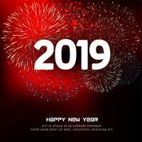 Abstrait joyeux nouvel an 2019 célébration vecteur