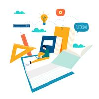 Education, cours de formation en ligne, illustration vectorielle d'enseignement à distance vecteur