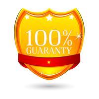 Badge de garantie à 100% vecteur